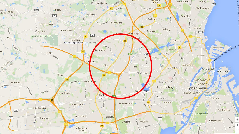 Kort: Her kan du lede efter meteoritter – Københavns Universitet