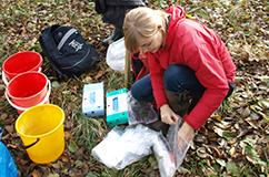 Biowide på feltarbejde i Strødam-reservatet i Nordsjælland. Foto: Ida Broman Nielsen.